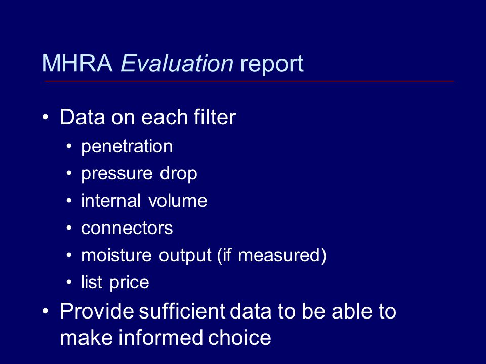 MHRA Evaluation report