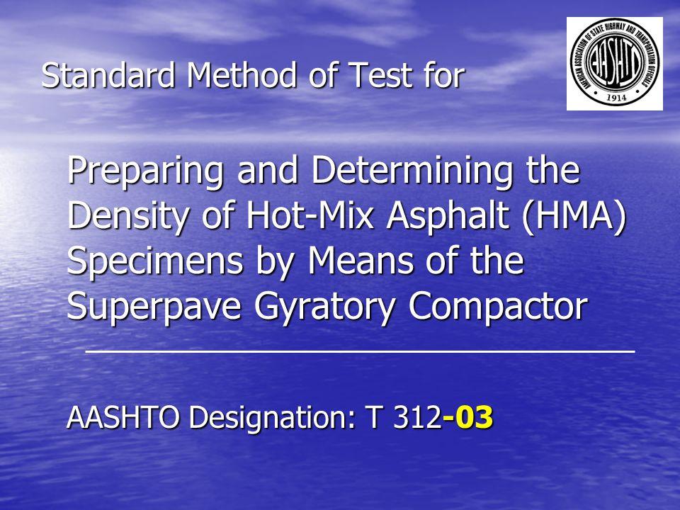 Standard Method of Test for