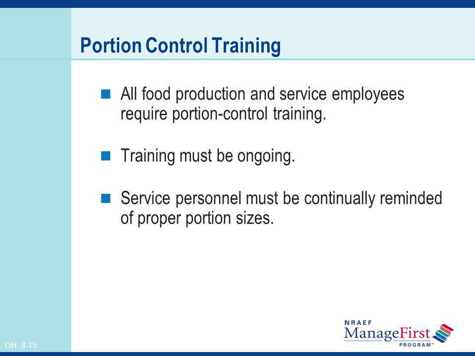 Portion Control Training