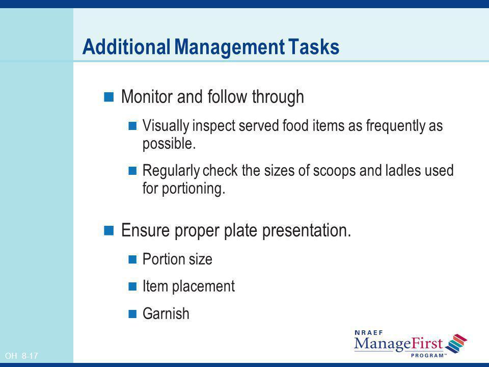 Additional Management Tasks