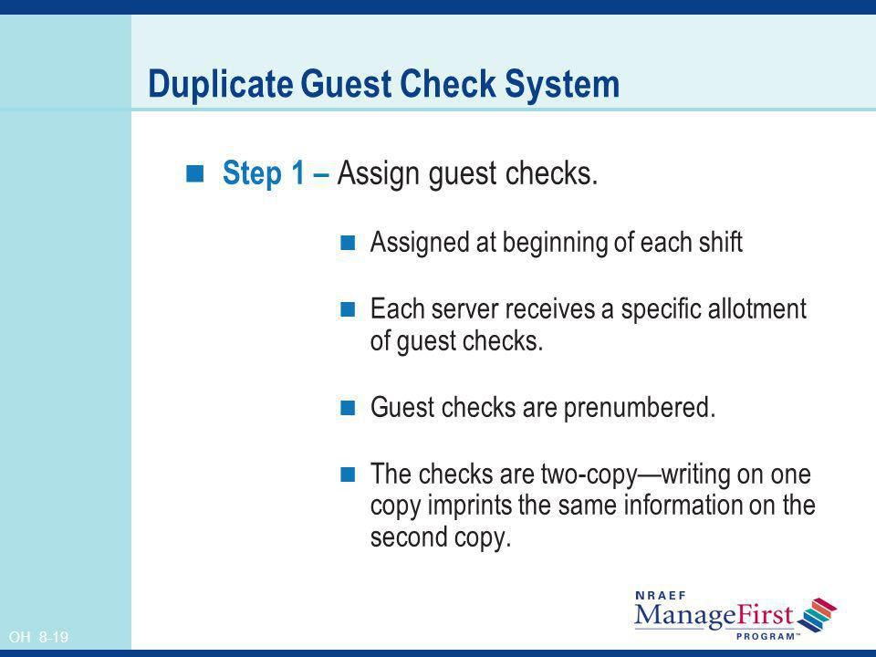 Duplicate Guest Check System
