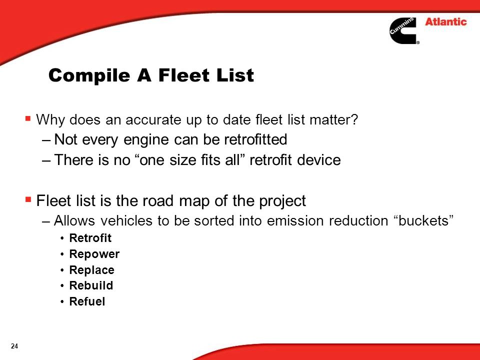 Compile A Fleet List Fleet list is the road map of the project