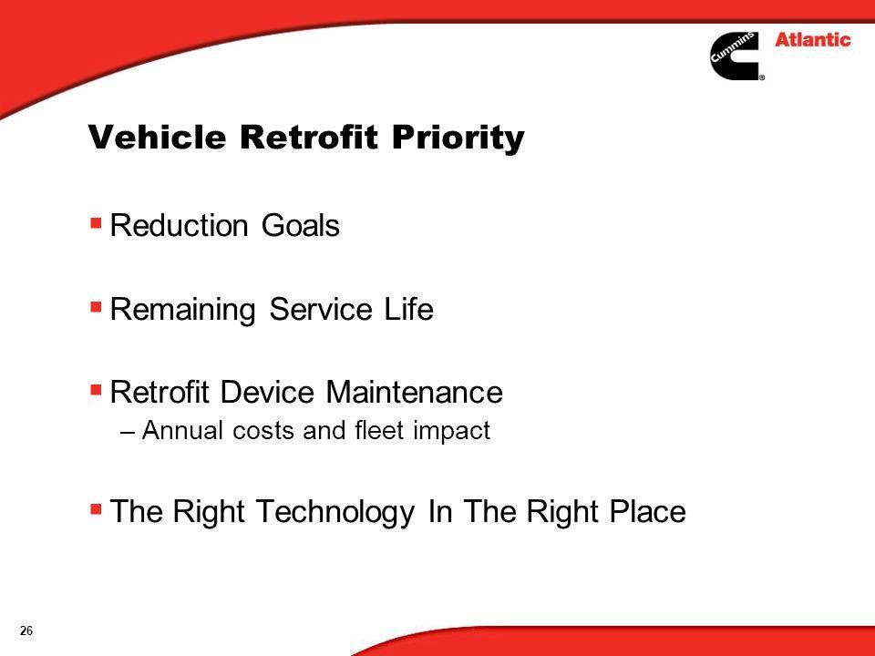 Vehicle Retrofit Priority