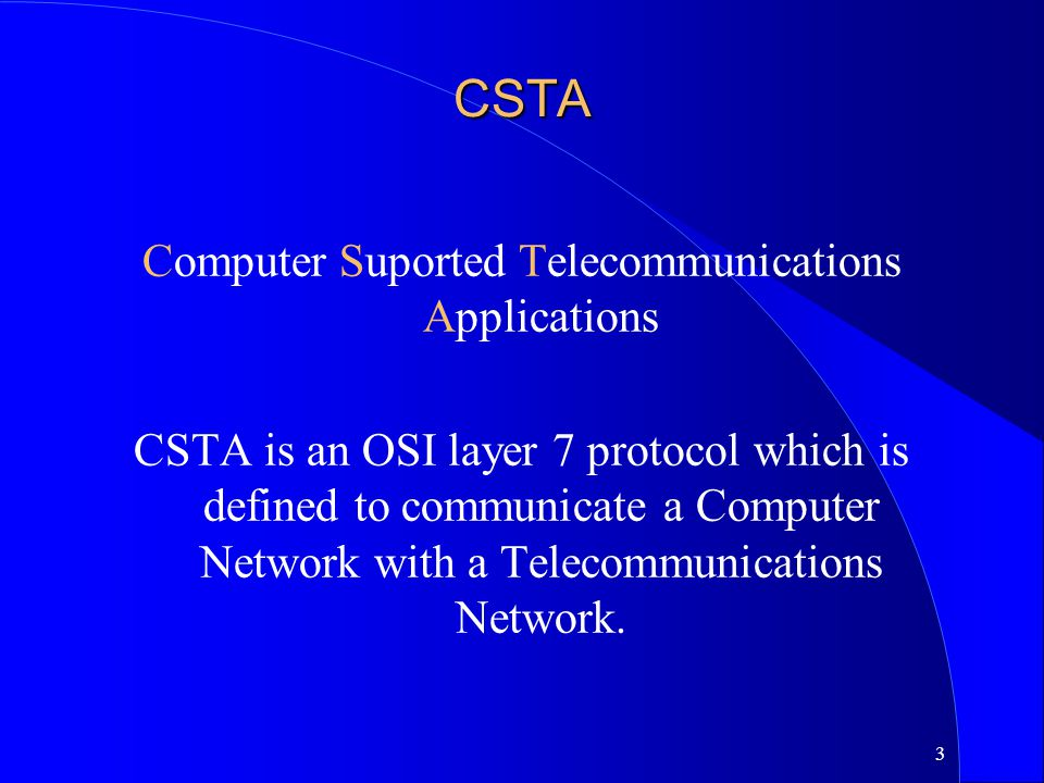 Computer Suported Telecommunications Applications