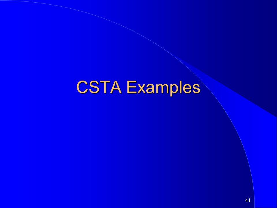 CSTA Examples
