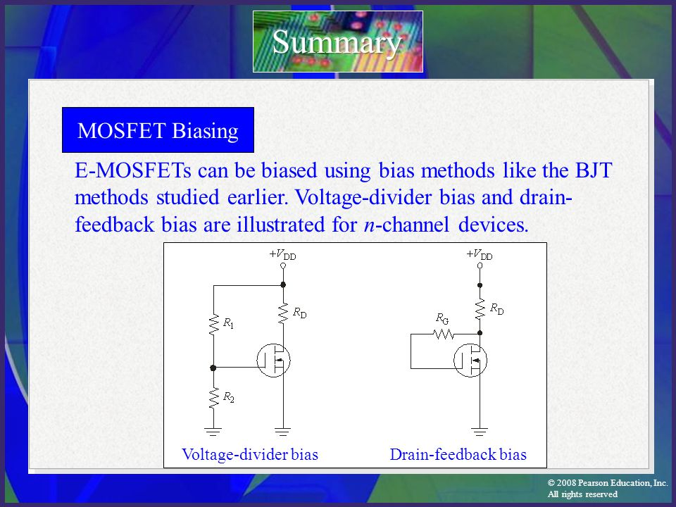 Summary MOSFET Biasing