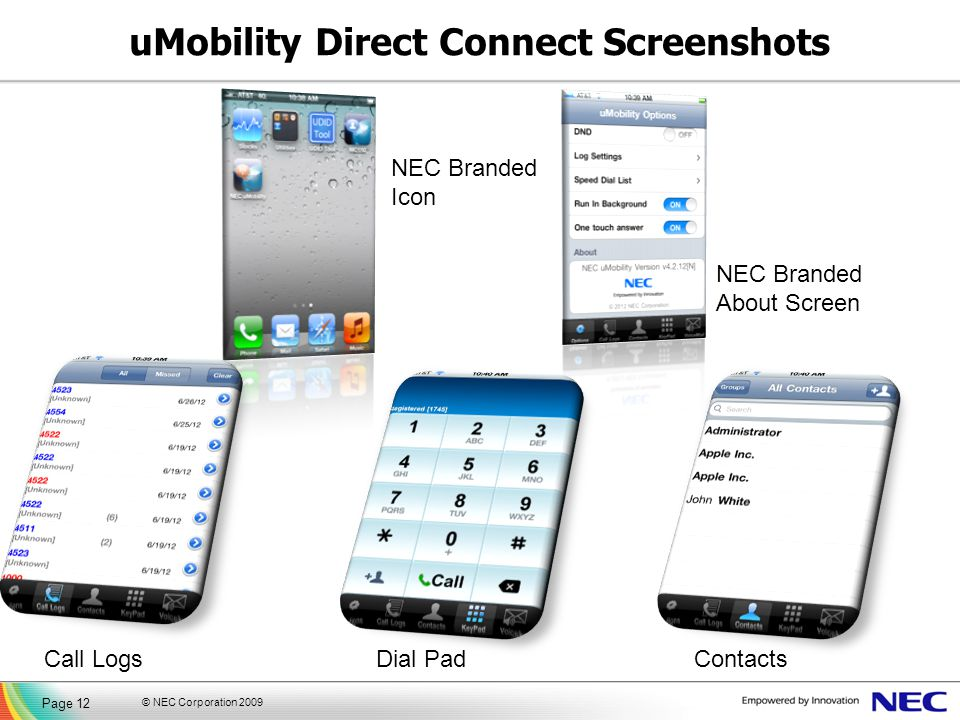 uMobility Direct Connect Screenshots