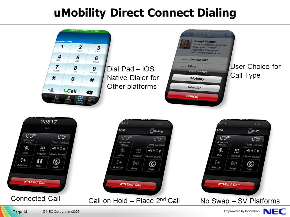 uMobility Direct Connect Dialing