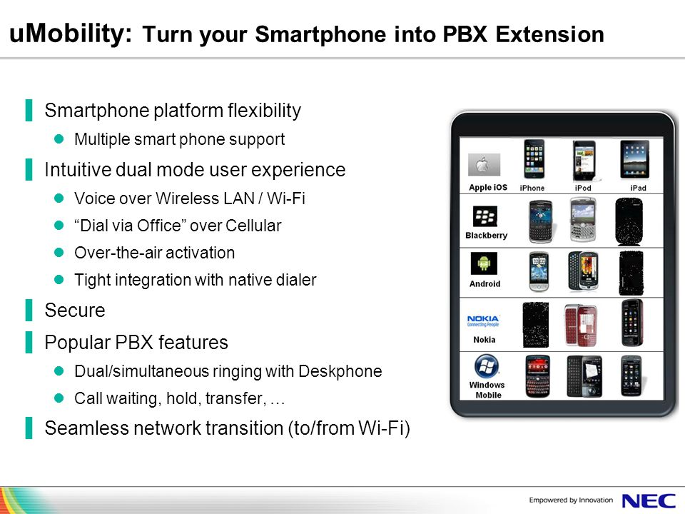 uMobility: Turn your Smartphone into PBX Extension