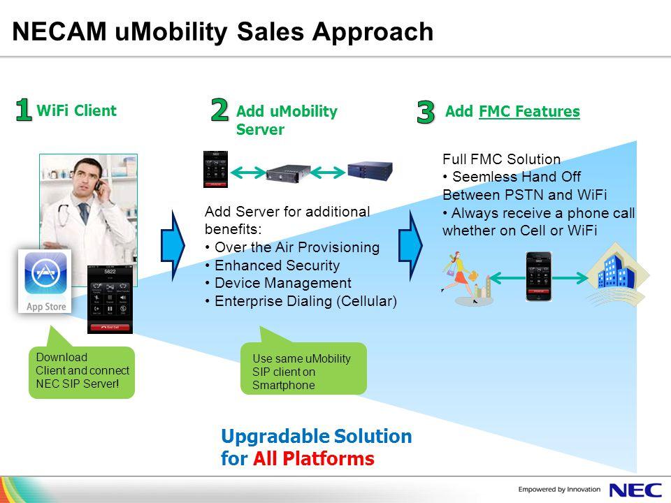 NECAM uMobility Sales Approach