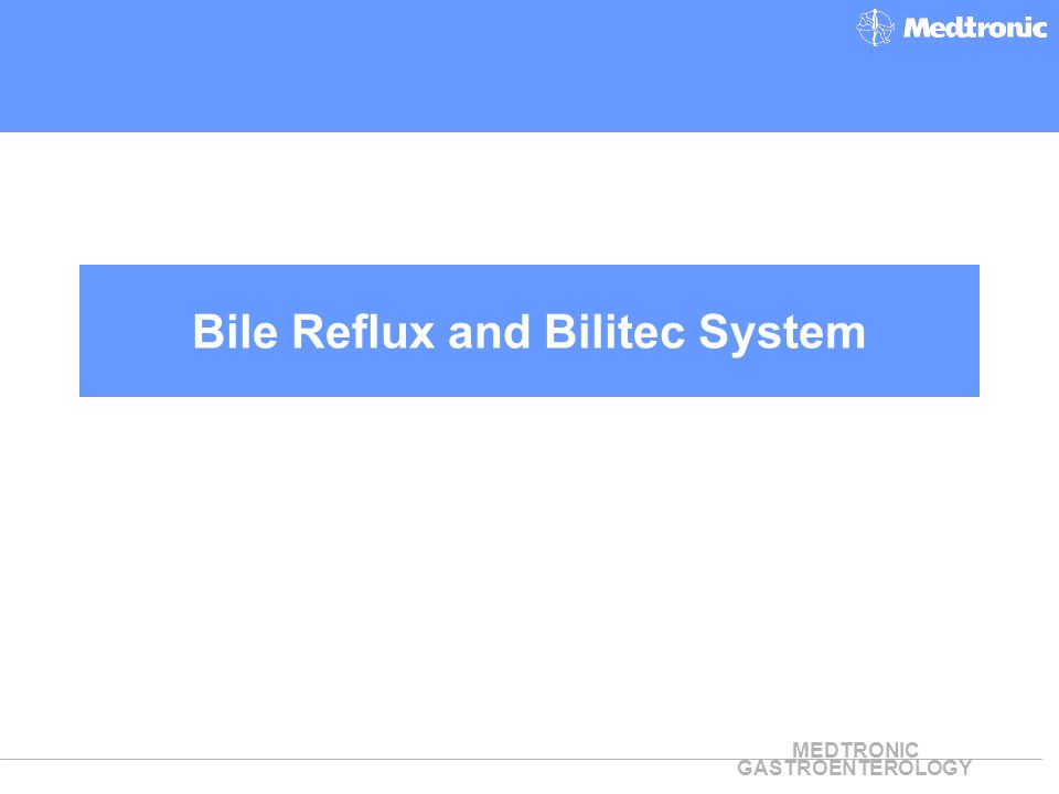 Bile Reflux and Bilitec System