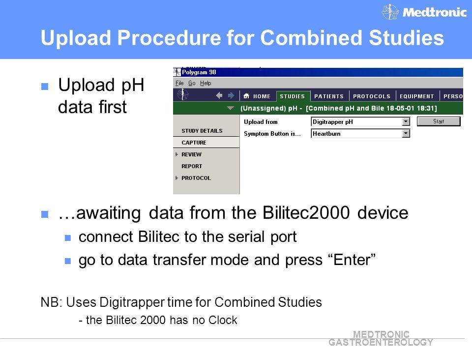 Upload Procedure for Combined Studies