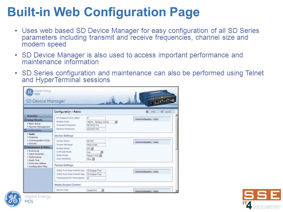 Built-in Web Configuration Page