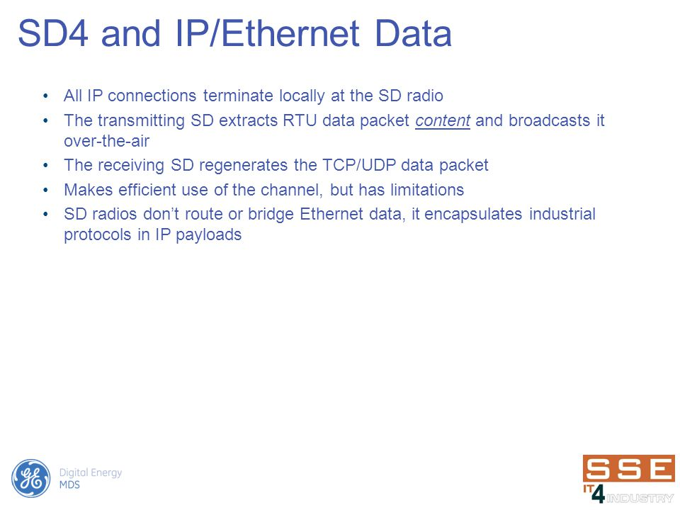 SD4 and IP/Ethernet Data