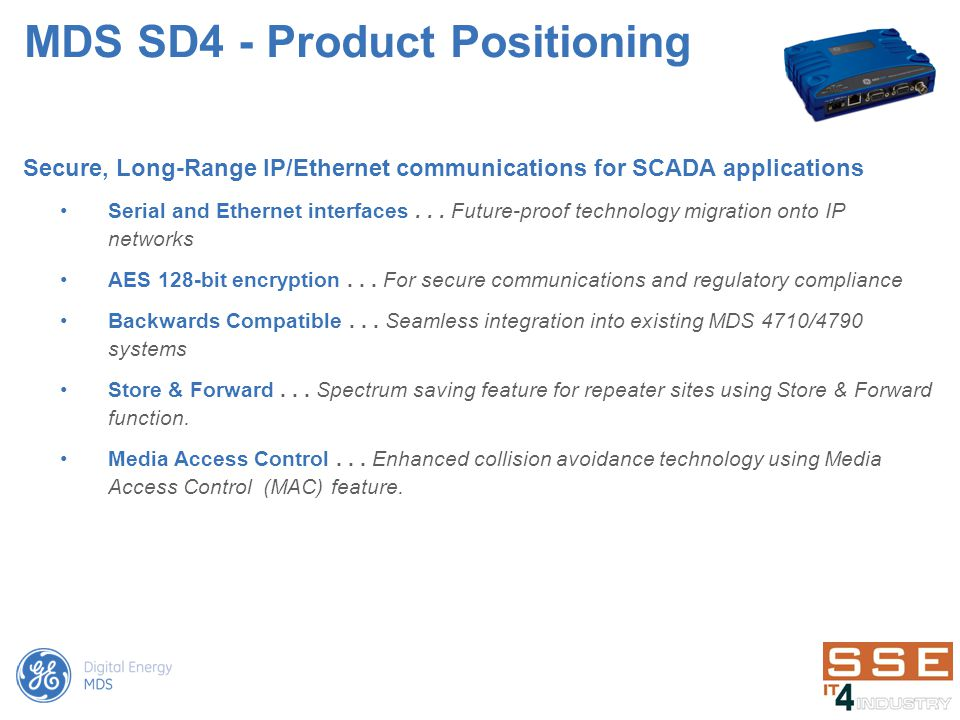 MDS SD4 - Product Positioning