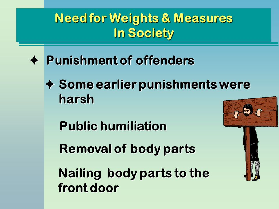 Need for Weights & Measures In Society