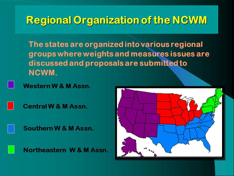 Regional Organization of the NCWM