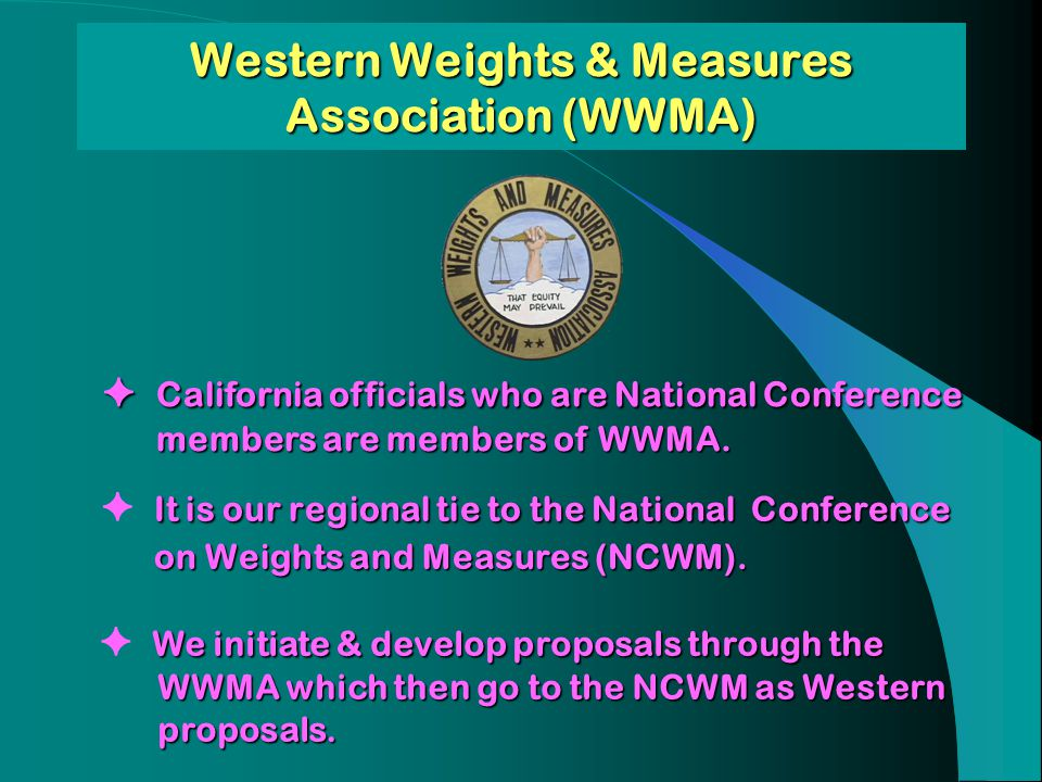 Western Weights & Measures Association (WWMA)