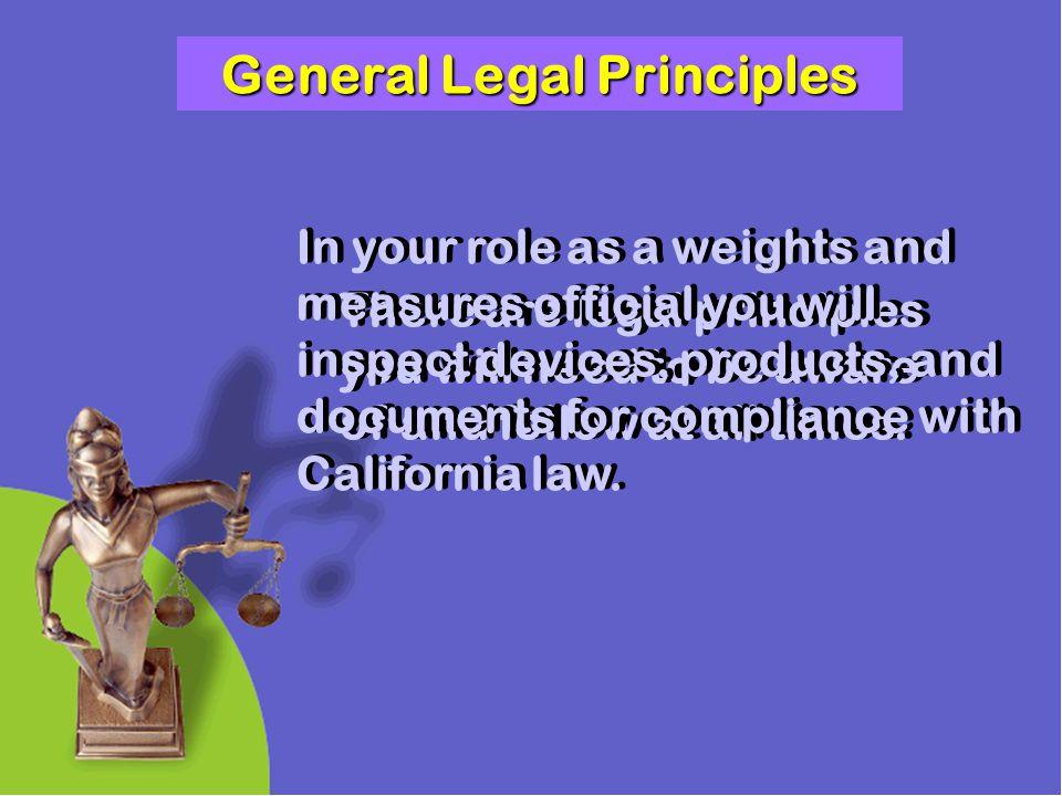 General Legal Principles