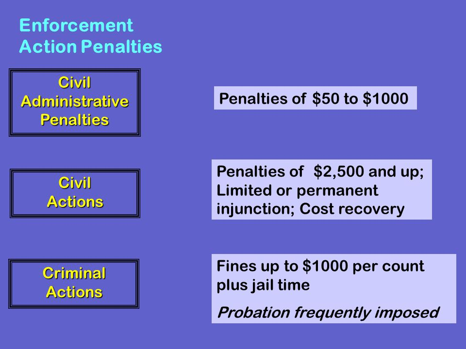 Enforcement Action Penalties