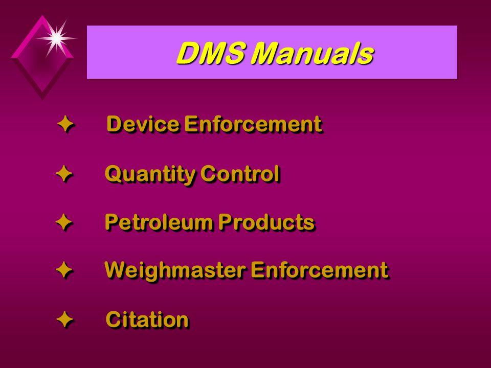 DMS Manuals  Device Enforcement  Quantity Control