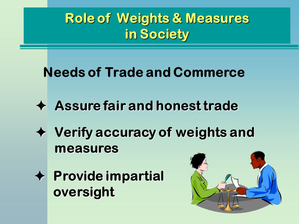 Role of Weights & Measures in Society