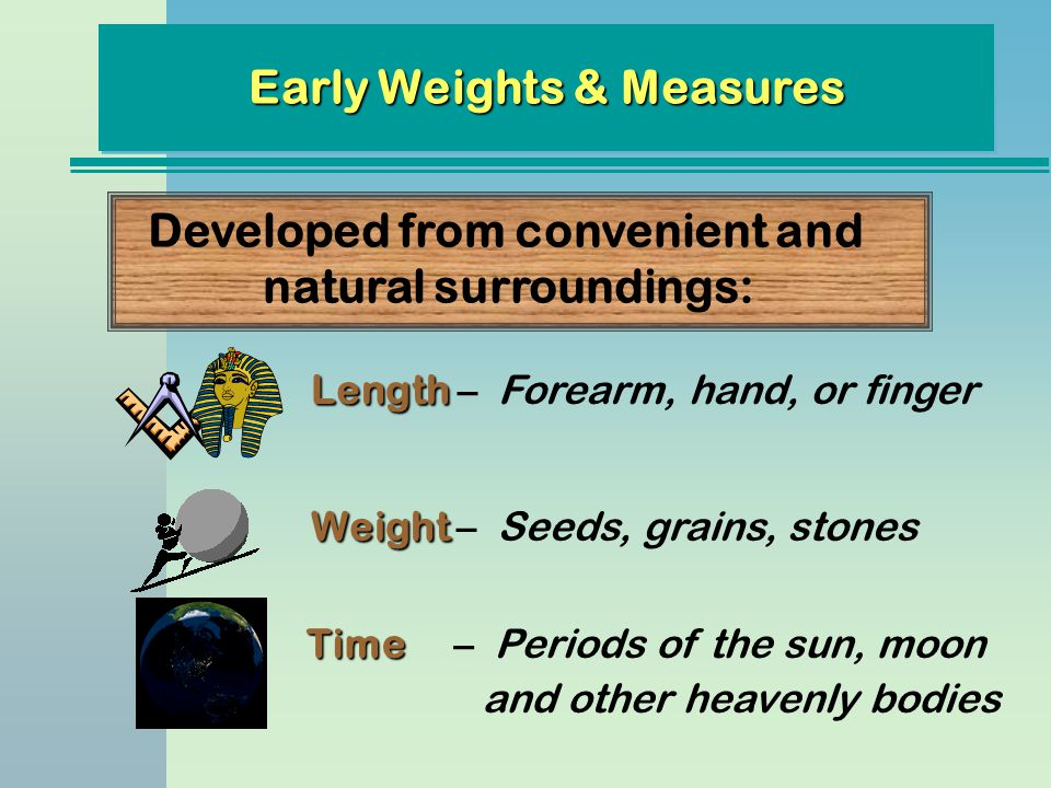 Early Weights & Measures