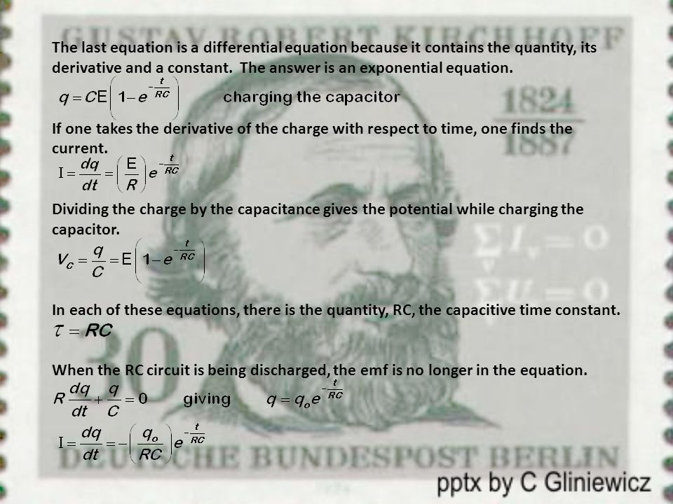 The last equation is a differential equation because it contains the quantity, its derivative and a constant. The answer is an exponential equation.