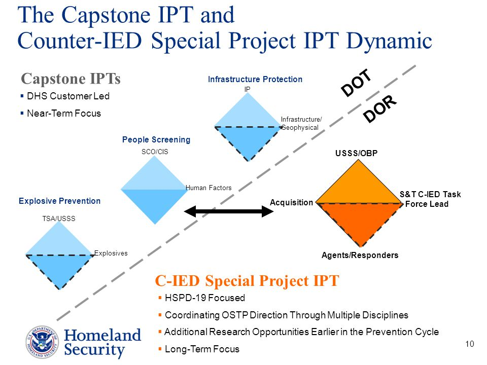 The Capstone IPT and Counter-IED Special Project IPT Dynamic