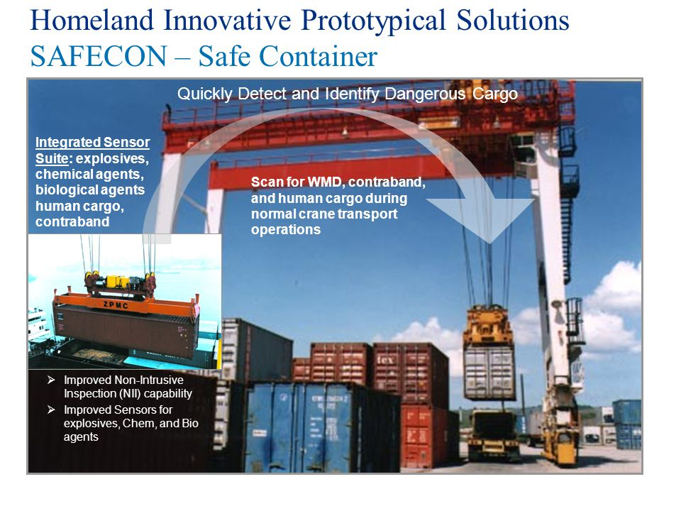Homeland Innovative Prototypical Solutions SAFECON – Safe Container
