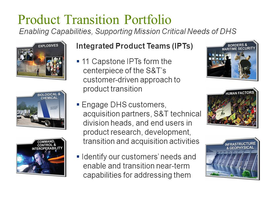 Product Transition Portfolio