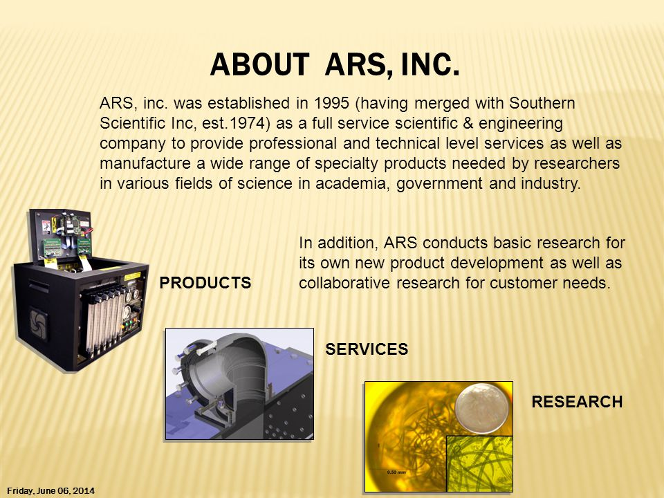 ABOUT ARS, INC.