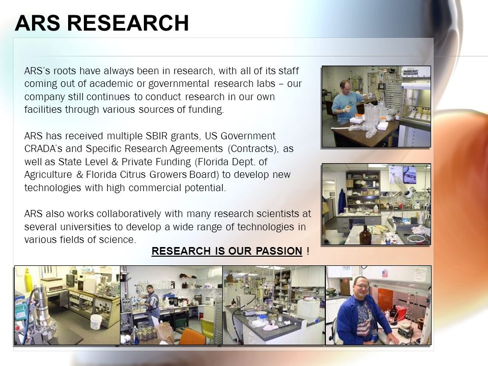 ARS RESEARCH