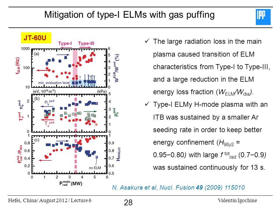 Mitigation of type-I ELMs with gas puffing