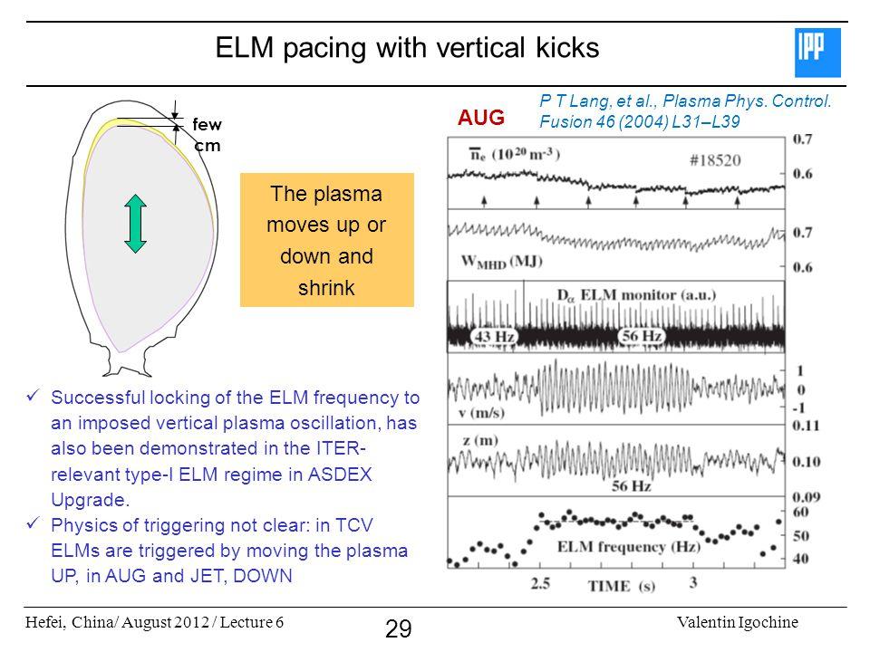 ELM pacing with vertical kicks