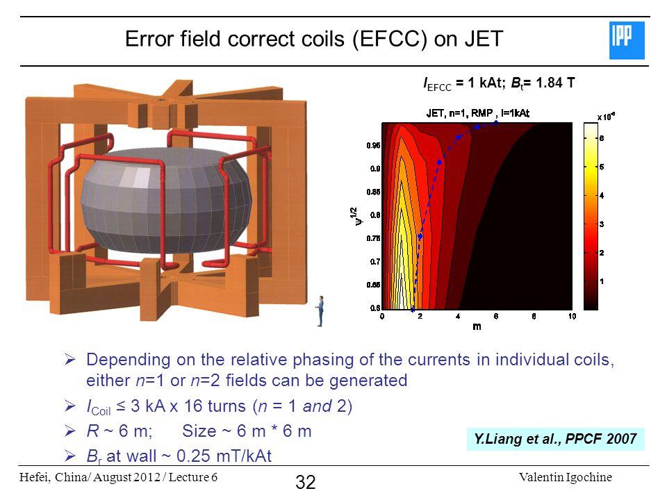 Error field correct coils (EFCC) on JET