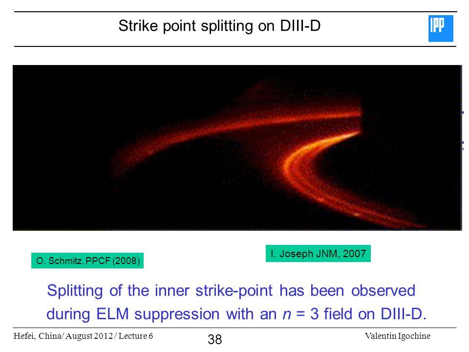 Strike point splitting on DIII-D