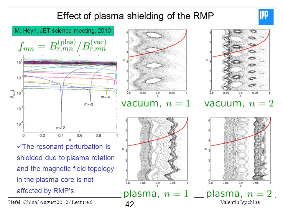 Effect of plasma shielding of the RMP
