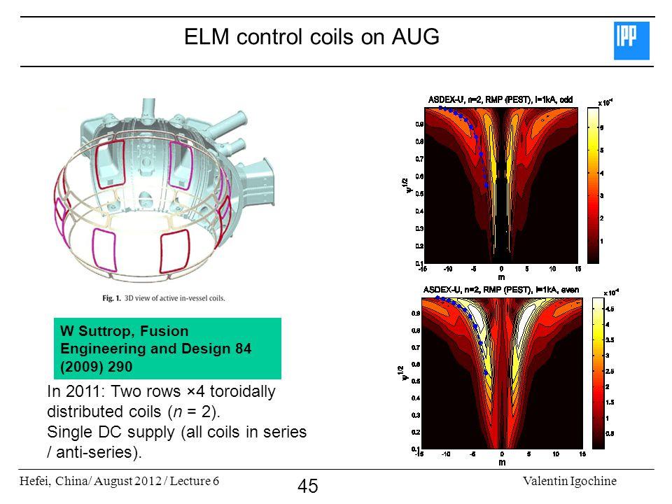 ELM control coils on AUG