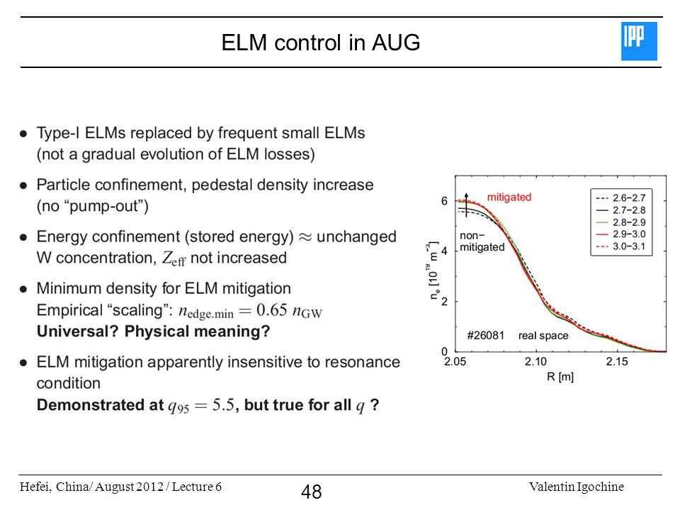 ELM control in AUG