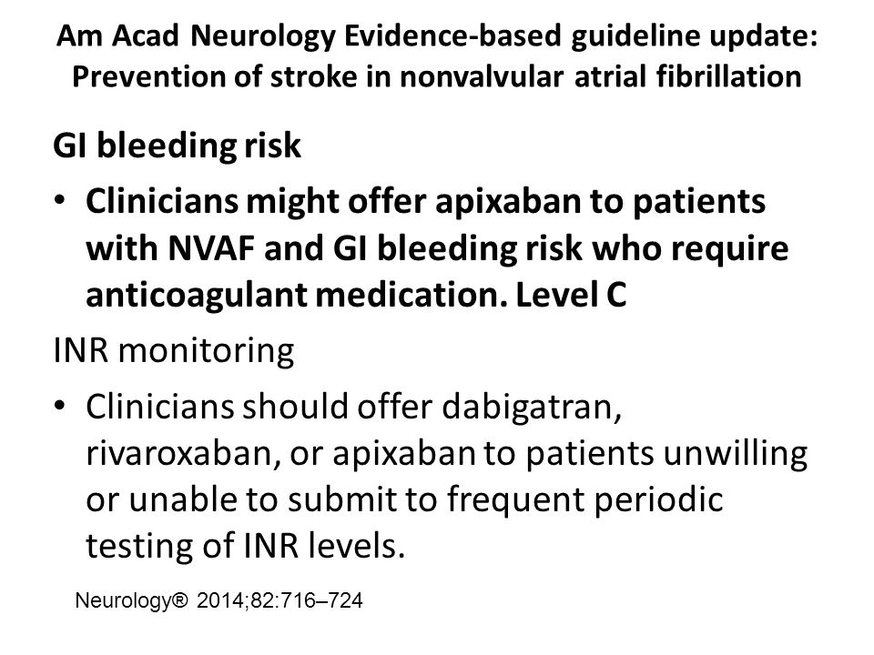 Am Acad Neurology Evidence-based guideline update: Prevention of stroke in nonvalvular atrial fibrillation