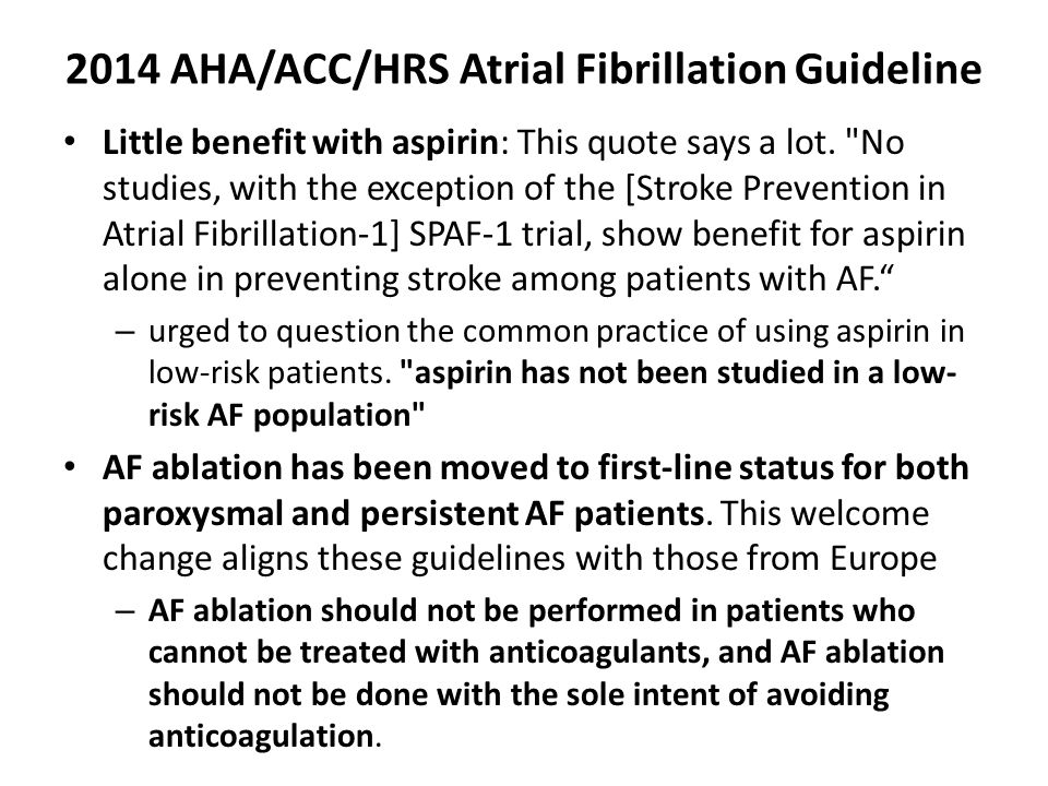 2014 AHA/ACC/HRS Atrial Fibrillation Guideline
