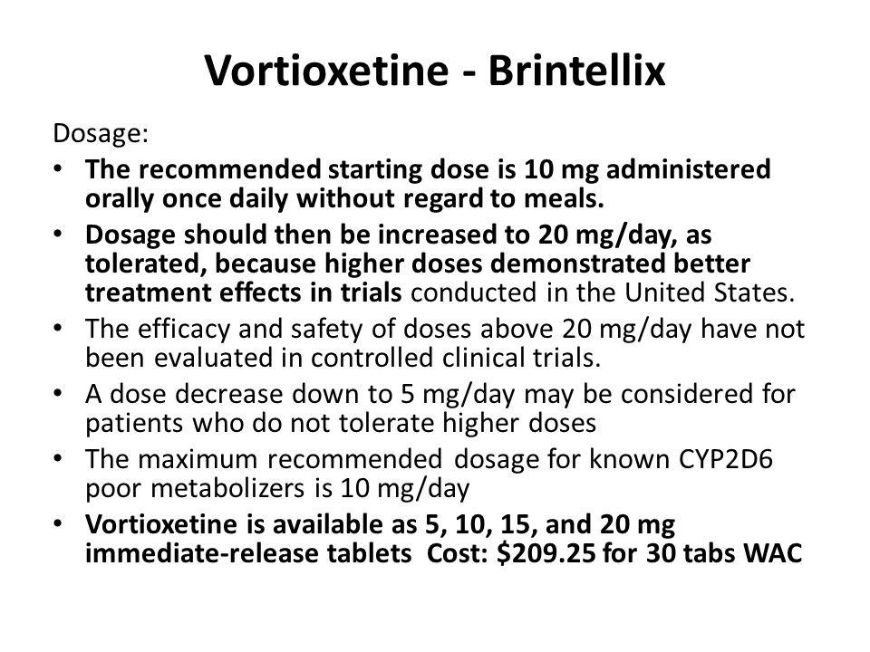 Vortioxetine - Brintellix