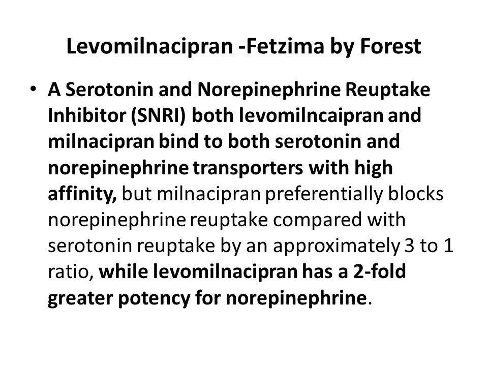 Levomilnacipran -Fetzima by Forest