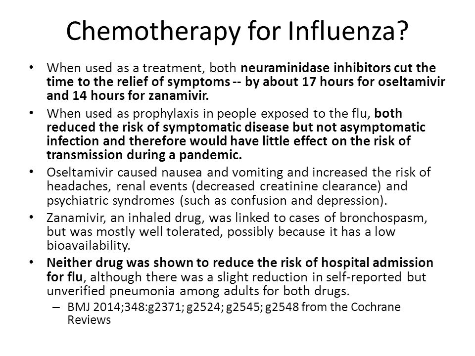 Chemotherapy for Influenza