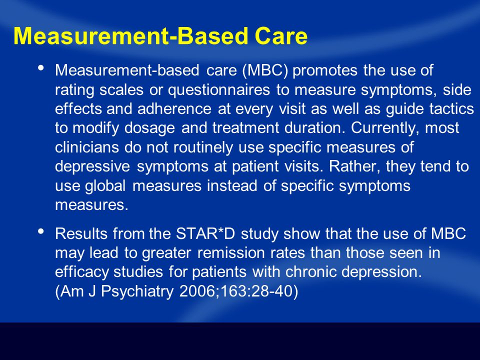Measurement-Based Care
