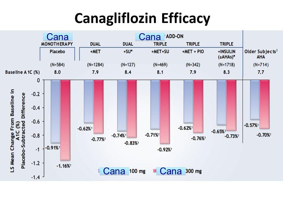 Canagliflozin Efficacy
