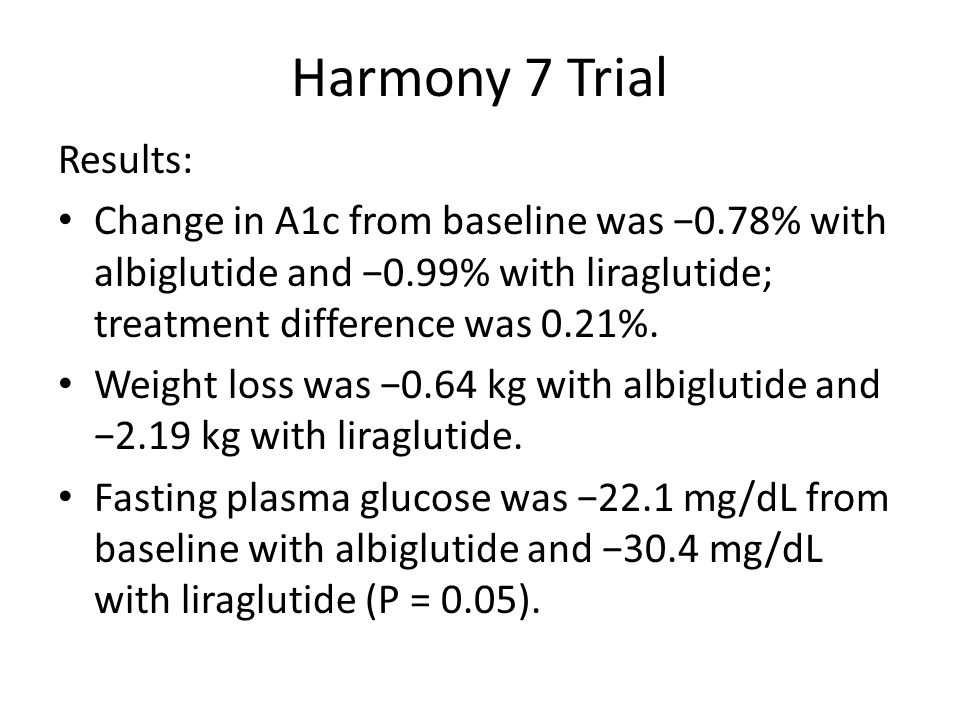 Harmony 7 Trial Results: