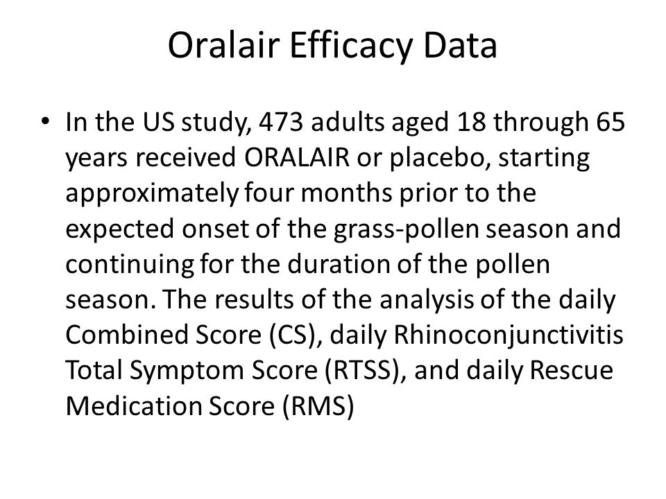 Oralair Efficacy Data