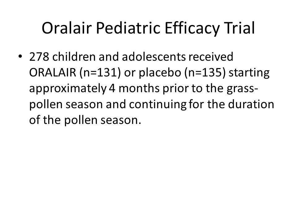 Oralair Pediatric Efficacy Trial